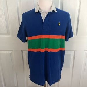 VTG Polo Ralph Lauren stripe cotton rugby shirt L